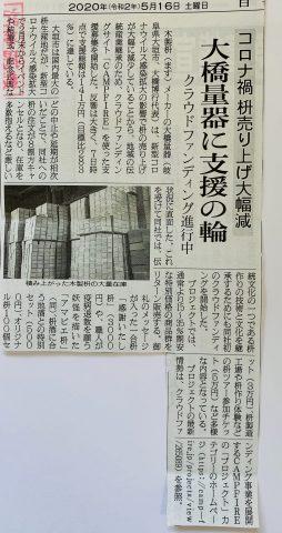 日刊木材新聞掲載。クラウドファンディング始めました。